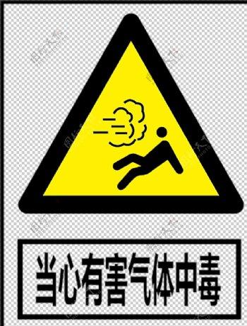 当心有害气体图片