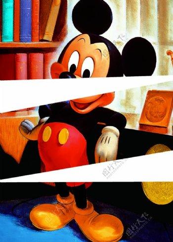 书架米老鼠图片