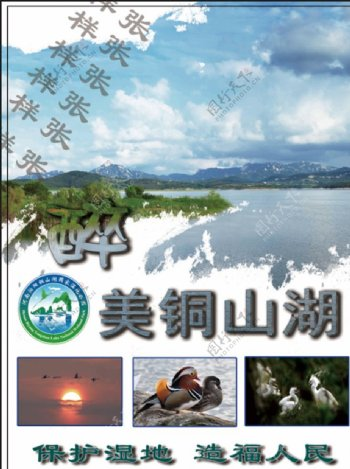 铜山湖国家湿地公园宣传彩页图片