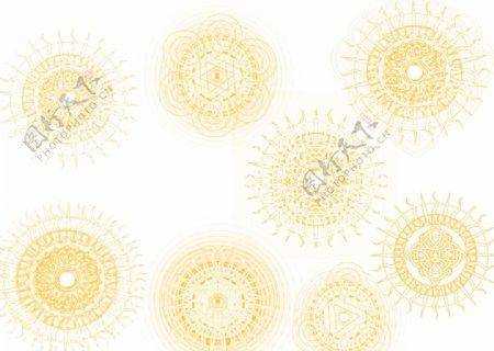 奇艺太阳花纹神秘宗教符号图片