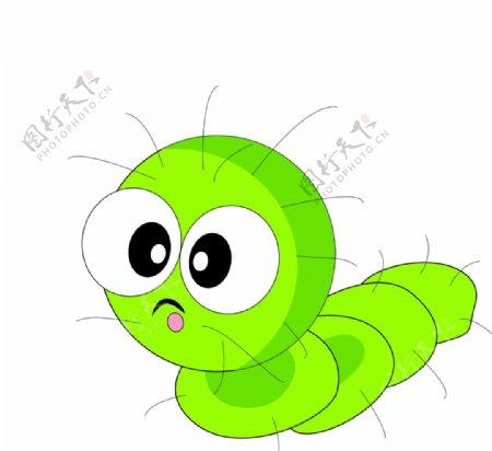 毛毛虫矢量图图片