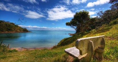 湖边纯色图片