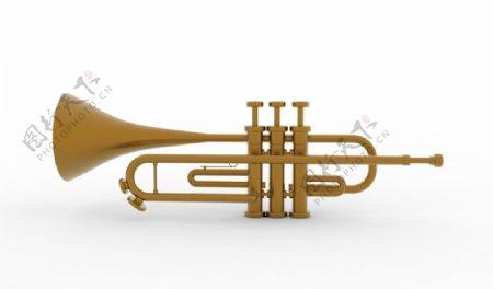喇叭模型号角乐器样机图片