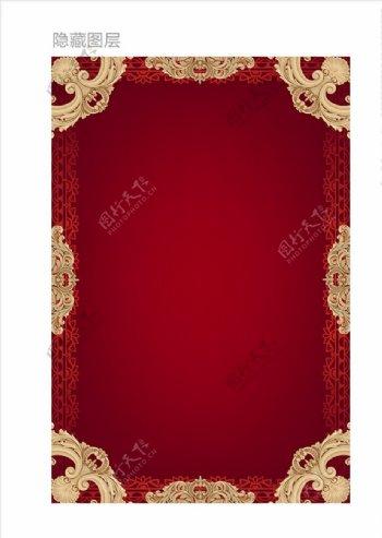 西式古典展板模板图片