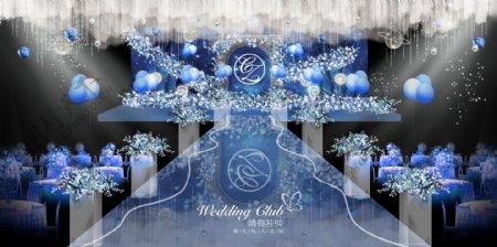 蓝色星空婚礼效果图图片