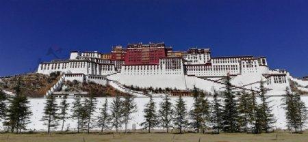 西藏布达拉宫建筑图片