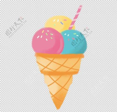 T恤印花卡通甜筒简单印花图片