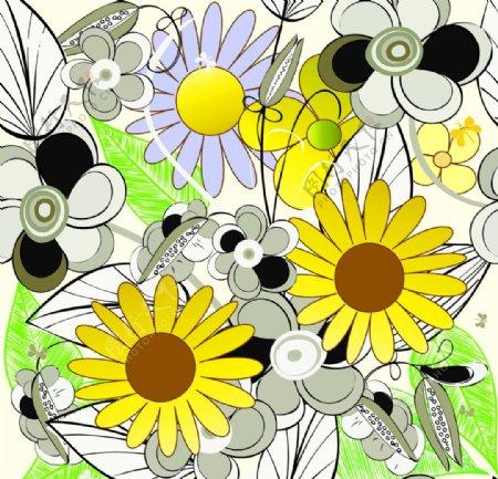 太阳花背景图片