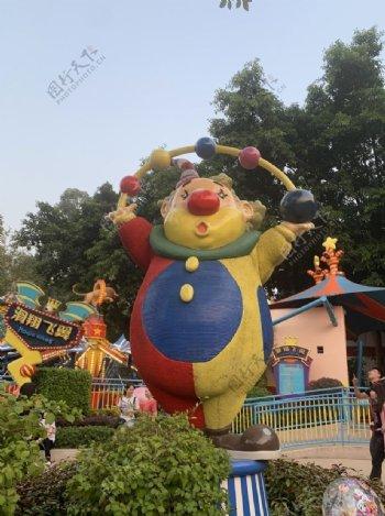 广州长隆欢乐世界小丑图片