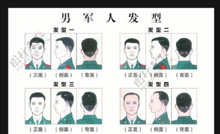 男军人发型图片