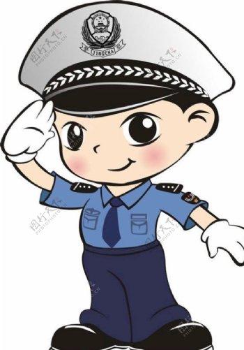 警察卡通图图片