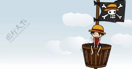 海贼人物乔巴路飞航海王海贼王船图片