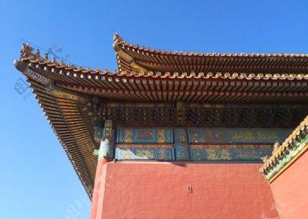 天安门城楼一角图片