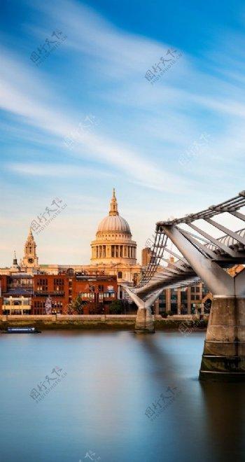 欧式建筑桥梁图片