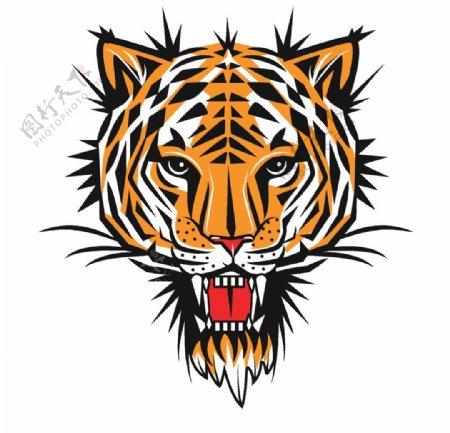 精致老虎头像图片