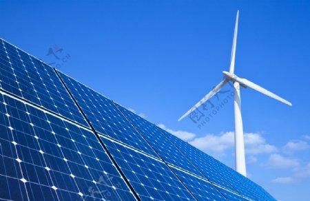光伏发电清洁能源光伏板图片