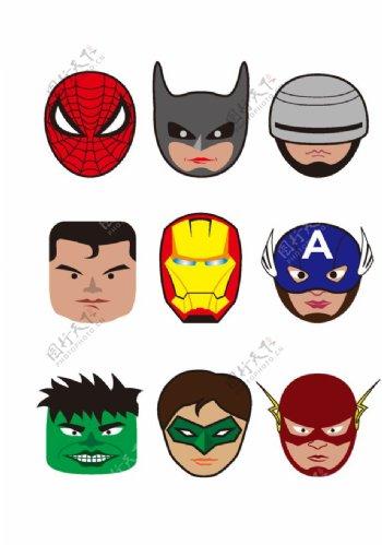 超级英雄人物头像图片