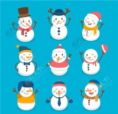 可爱笑脸雪人图片