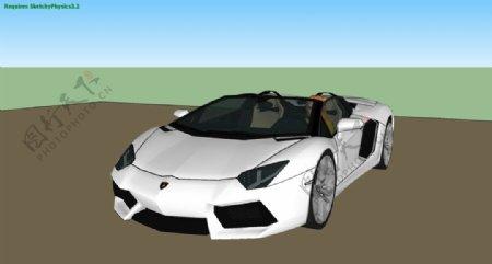 兰博基尼Aventador跑车图片