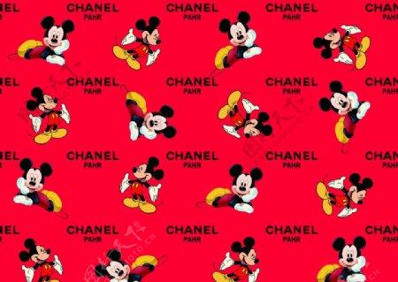 红底米老鼠字母组合图片