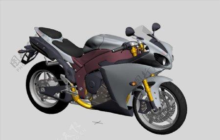 摩托车3D模型图片
