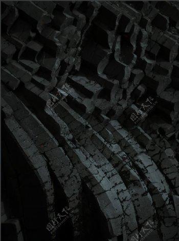 岩石质感纹理黑色背景图片