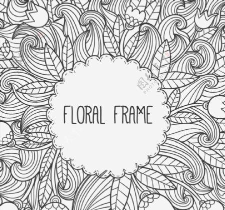 手绘花卉标签图片