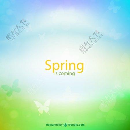 春季梦幻背景图片