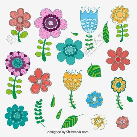 缤纷卡通花朵图片