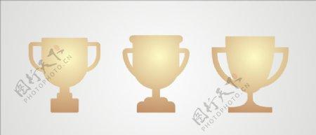 矢量奖杯元素设计图片