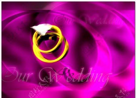 婚庆交换戒指背景视频