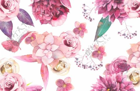 花朵花瓣壁纸插画背景海报素材图片