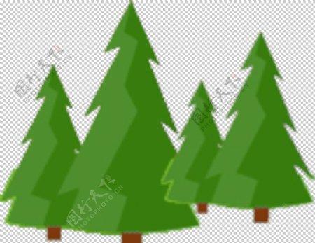 卡通松树图片
