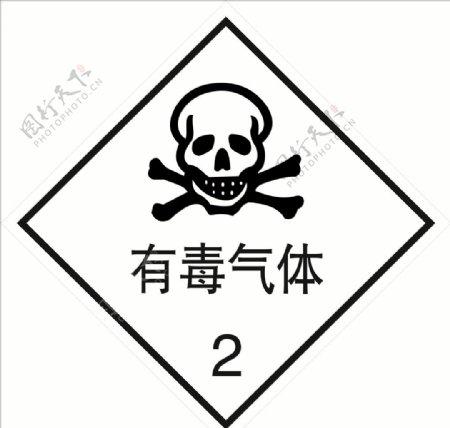 危险货物包装标志有毒气体图片