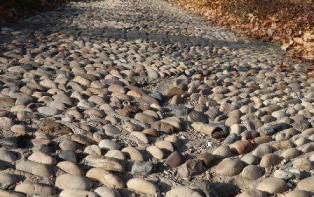 鹅卵石小路图片