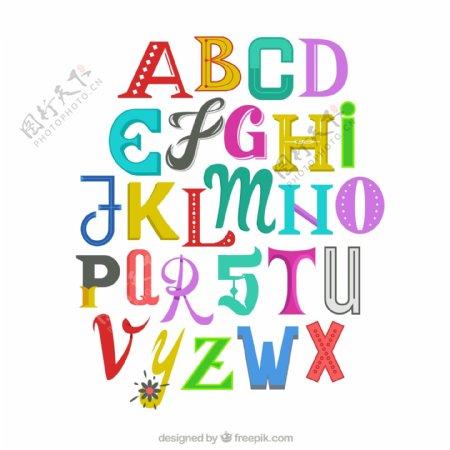 英文字母艺术字图片
