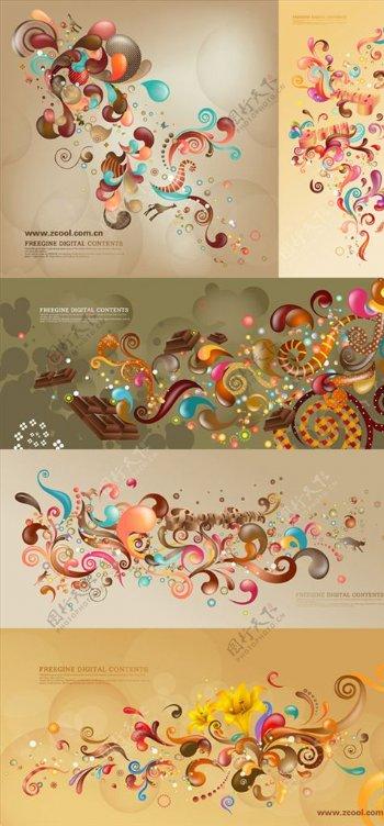 潮流花纹图案图片
