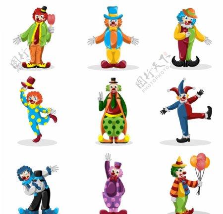 卡通小丑人物图片