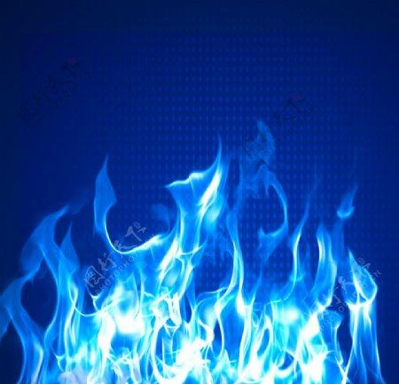 蓝色火焰背景图片