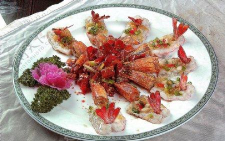 家常菜鸳鸯蒜香大虾图片