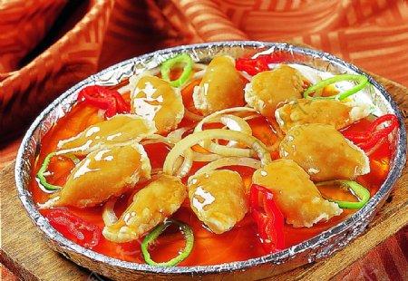 豫菜香煎琵琶豆腐图片
