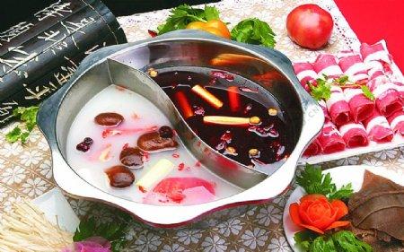 豫菜鸳鸯锅底图片