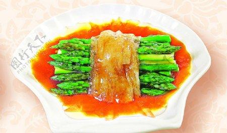 豫菜竹笙鲜芦笋图片