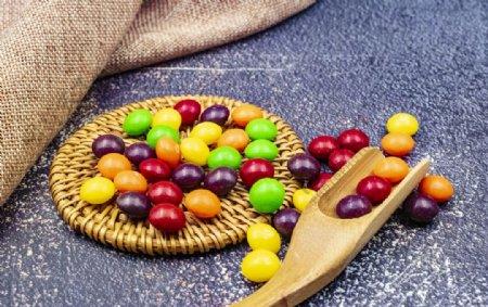 七彩巧克力糖果图片