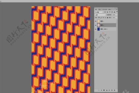 炫彩几何波浪条纹图片