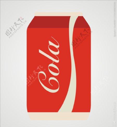 易拉罐可口可乐图片