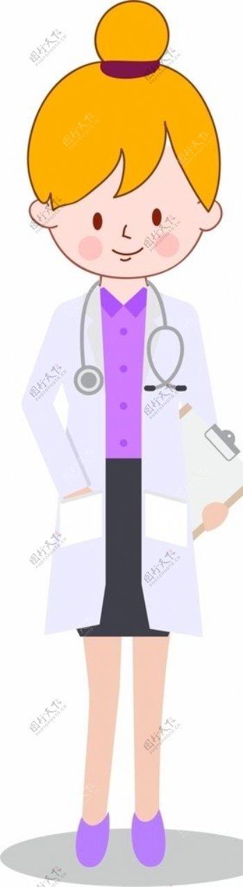 卡通医生图片