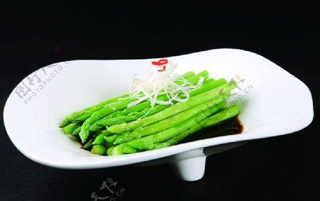 特色菜白灼芦笋图片