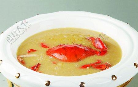 浙菜豌豆粉蟹图片