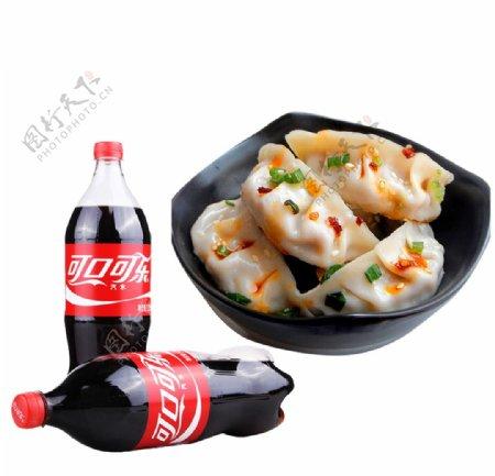 饺子可乐图片